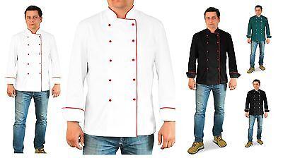 Jacket Adam Executive Uniform Men Chef Catering Kitchen Long Sleeve Pen Pocket Executive Chefs Jacket