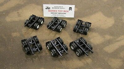 DCP LOT OF 6 PARTS CHASSIS W/ 2 AXLES WHEELS - CUSTOM SEMI TRAILER BUILD -