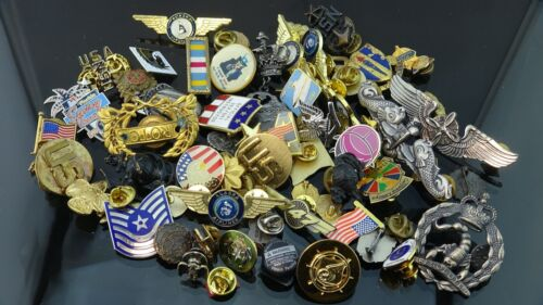 Lot of Mix collectable Enamel Lapel pinback/ Army Pins