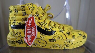 ⚡️Vans Peanuts Sk8-Hi Charlie Brown Maize Sneakers Unisex US Mens 8.5 Women 10