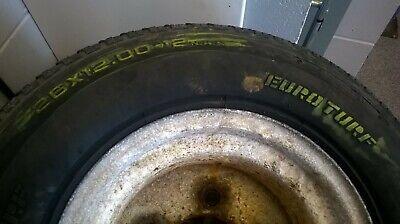 26 x 12.00-12 Euro Turf Tyre c/w wheel, 5 stud pcd 161/162 mm, extra sidewall