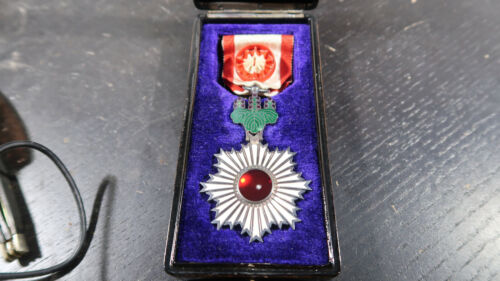 WWII Japanese Army BOXED Order of the Rising Sun 4th Class