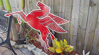 Antique Vintage Old Mobil Pegasus Sign - Garage Decor
