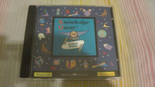 KNOWLEDGE QUEST UNITED STATES AGE 10-ADULT PC MAC CD ROM AMERICAN HISTORY