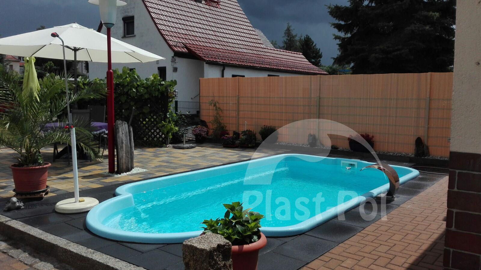 gfk schwimmbecken 5 0x3 00x1 50 swimming pool fertigbecken gartenpool eur picclick at. Black Bedroom Furniture Sets. Home Design Ideas