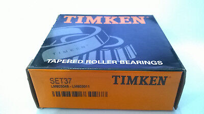 Set 37 Cup /& Cone one Timken Set37 LM603049//LM603011