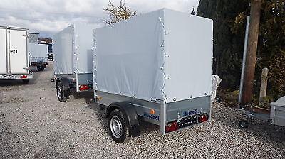 Pkw Anhänger NEU stabil 750kg Ladefläche 2,06x1,11m mit Plane Hochplane Garten