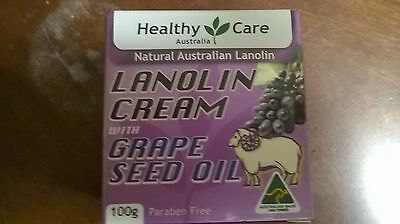 Healthy Care Lanolin Cream with Grape Seed Oil 100g/ 3.3oz (Made in (Healthy Care Lanolin Cream With Grape Seed)