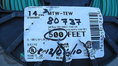 500 Ft 14 Awg Stranded Copper Wire 600v  Machine Tool Mtw Tew Appliance 105c