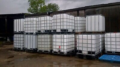 Refurbished 1 x IBC Container 1000 litres on Pallet Water Storage Tank