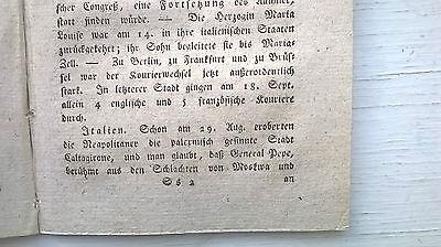 1820 41 Revolution in Italien / Fleischer Tote durch Wurst Teil 3