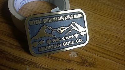 Royal Mountain King Mine Brass Buckle   Meridian Gold Co