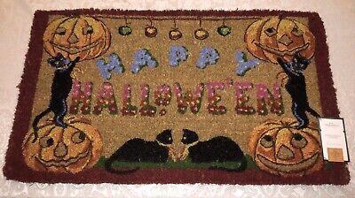 Vintage Style Mortal Portal Halloween Black Cat Door Mat John Derian Threshold