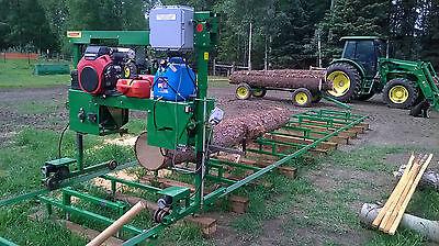 Bandsaw Mill Sawmill Farmhawk 24 With Honda V Twin 30 Trackpower Feedset