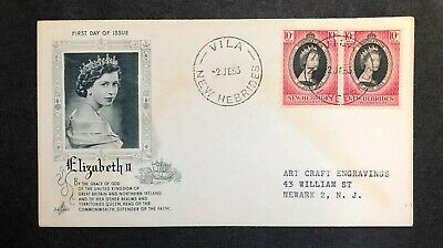 New Hebrides 1953 Coronation FDC First Day cover
