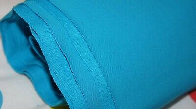Solid blue french terry knit fabric, sweatshirt fabric, easy to sew fabric boys