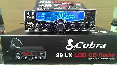 BRAND NEW COBRA 29 LX 29LX 40 CHANNEL CB RADIO PRO TUNED,MOSFET,SWING KIT