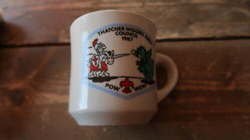 Vintage 1987 Thatcher Woods Area Council Pow Wow Coffee Mug