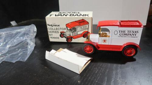 1984 No 1 Texaco 1913 Model T Van Bank BOXED MATCHING NUMBERS