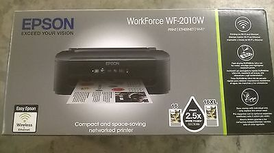 NEW INKJET EPSON PRINTER WORKFORCE WF-2010W WITH INKS WAS £67.50! SALE