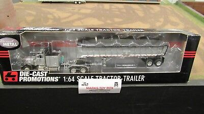 DCP#31584 EAST CORPORATE PROMO PETE 379 SEMI CAB TRUCK &END DUMP TRAILER 1:64/FC for sale  Shipping to Canada
