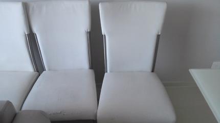 white dinning chairs