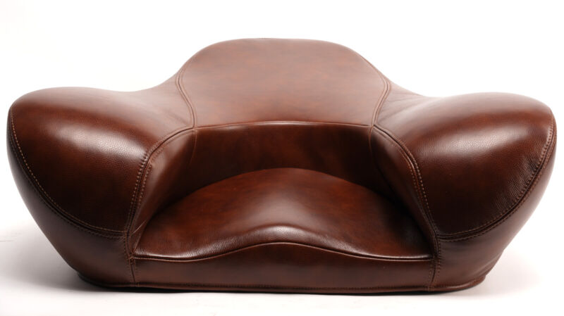 Alexia Meditation Seat Genuine Leather Latte Brown