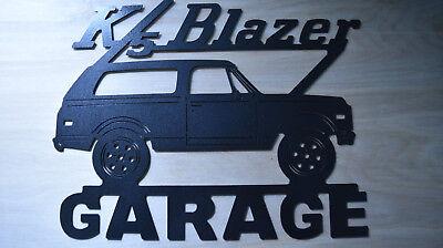 Chevy K5 Blazer Metal Garage sign