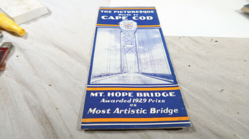 1920s 30s Newport Rhode Island Mt Hope Bridge Broochure Pamphlet Travel