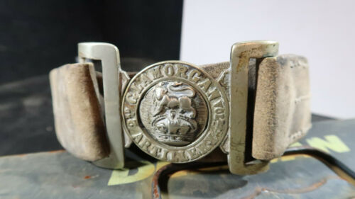 British Army 2nd Glamorgan Officer Belt Buckle with Leather Belt