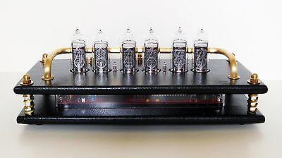 """Nixie Clock/Uhr - IN-14 Tubes/Röhren - Nixie """"QTC"""" - Steampunk Design"""