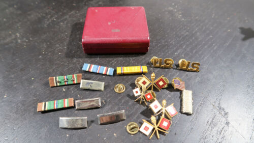 WWII US Army Officer Signal Insignia Ribbon Bars