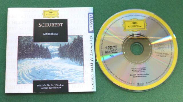 Schubert Winterreise Dietrich Fischer-Dieskau Daniel Barenboim CD