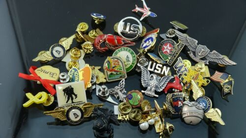 Lot of Mix collectable Enamel Lapel pinback/ Army Pins/USA Flag