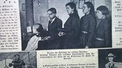 1917 40 1. Weltkrieg russische Soldatinnen Todesbataillon