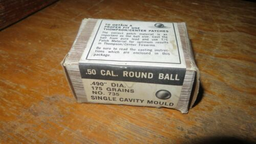 Thompson Center 50 caliber Round Ball mold, NEW In Box, old store stock!