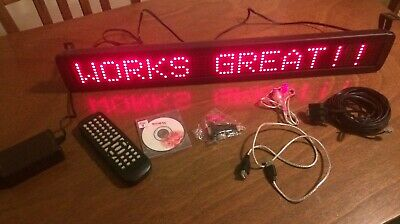 Red Led Programmable Display Sign With Remote Control..