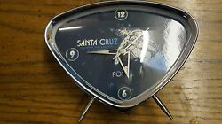 Fossil retro atomic clock blue surfing triangle alarm desk table mod