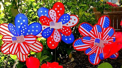 Patriotic Wind Spinner/Perfect Gifts/Yard/Garden/Decoration