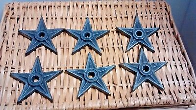 Architectural Star - 6 Cast Iron Rustic Architectural Stress Washer Texas Star 4 1/4