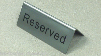 Lot Of 6 Reserved Table Marker Card Sign Heavy Stainless Wedding Banquet Dining