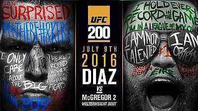 CONOR McGREGOR v NATE DIAZ UFC 200 MMA PROMO POSTER , used for sale  Ireland