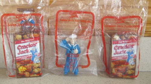 3-Cracker Jack Toy Compass, Fan Whistle, Periscope Subway Toy vintage 1999 New