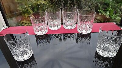 Set of 6 HEAVY VINTAGE GIN & tonic GLASSES Chateau Tumbler Whiskey BAILEYS WATER