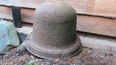 Vintage cast iron copper cauldron wash pot architectural salvage planter