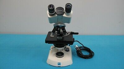 Zeiss Binocular Transmitted Light Biological Microscope With Four Objectives