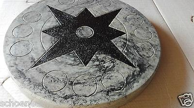 TRITTSTEIN Trittplatte 50 cm  granit grau marmoriert      Deko Stein Garten