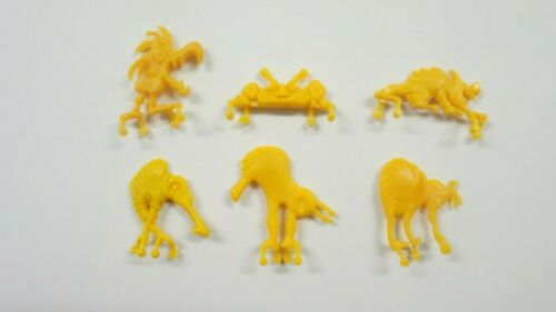 Cereal Toy Metric Monsters set of 6 all yellow Kellogg