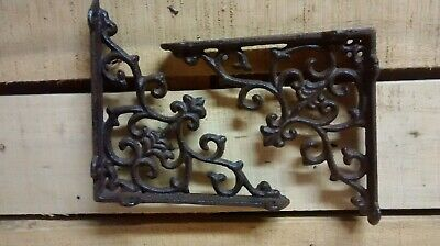 6 Cast Iron Antique Style CROSS Bracket Shelf Bracket RUSTIC Jesus God Lord