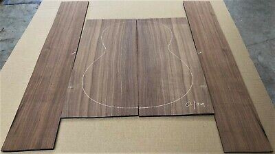 Straight grain Claro walnut OM acoustic guitar back and side set #42320-15